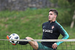 March 20, 2018 - Lisbon, Lisbon, Portugal - Portugal forward Andre Silva during training session at Cidade do Futebol training camp in Oeiras, outskirts of Lisbon, on March 20, 2018 ahead of the friendly football match in Zurich against Egypt on March 23. (Credit Image: © Dpi/NurPhoto via ZUMA Press)