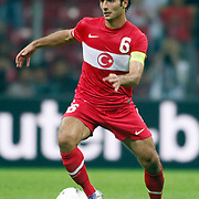 Turkey's Hamit ALTINTOP during their UEFA EURO 2012 Qualifying round Group A matchday 19 soccer match Turkey betwen Germany at TT Arena in Istanbul October 7, 2011. Photo by TURKPIX