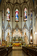 The sancutary of St. Mary's Star of the Sea, in the Carroll Gardens neighborhood of Brooklyn, the church in which gangster Al Capone was married.