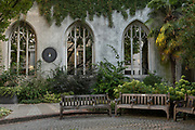 St Dunstan's in the East on the 20th September 2019 in London in the United Kingdom. St Dunstan's in the East was a Church of England parish church on St Dunstans Hill. The church was largely destroyed in the Second World War and the ruins are now a public garden.