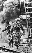 German soldiers under fire in Russia 1942
