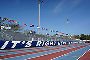A general view of the track and field stadium at the Ansin Sports Complex, Saturday, April 10, 2021, in Miramar, Fla.