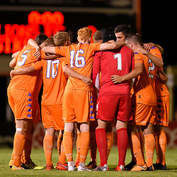 BRISBANE, AUSTRALIA - JANUARY 27: Lions FC players gather during the Kappa Silver Boot Grand Final match between Lions FC and Brisbane Strikers on January 27, 2018 in Brisbane, Australia. (Photo by Patrick Kearney)