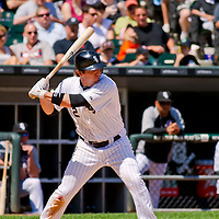 Chicago, IL - June 05, 2011:  Chicago White Sox, Brent Morel (22), bats against the Detroit Tigers at U.S. Cellular Field on June 5, 2011 in Chicago, IL.