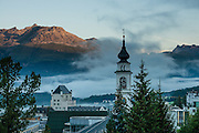 "The town of Pontresina is in Upper Engadine, in Graubünden (Grisons) canton, Switzerland, the Alps, Europe. The Swiss valley of Engadine translates as the ""garden of the En (or Inn) River"" (Engadin in German, Engiadina in Romansh, Engadina in Italian)."
