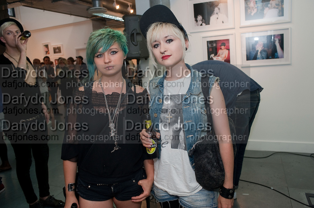 DOROTKA HANULA; KASIA HANULA. The VICE Photo Exhibition 2009 - private view of an exhibition of work originally published in Vice magazine.. <br /> The Print Space, 74 Kingsland Road, London E2. 12 August 2009
