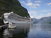 Norway Aurlandsfjord, Flåm cruise ship