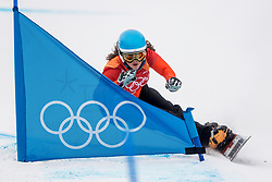 PYEONGCHANG-GUN, SOUTH KOREA - FEBRUARY 24: Michelle Dekker of the Netherlands competes during the Ladies' Parallel Giant Slalom Elimination Run on day fifteen of the PyeongChang 2018 Winter Olympic Games at Phoenix Snow Park on February 24, 2018 in Pyeongchang-gun, South Korea. Photo by Ronald Hoogendoorn / Sportida