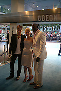 "Ewan McGregor, Scarlett Johansen and Djimon Hounsou at the UK Premiere of ""The Island"" at the Odeon Leicester Square, London. 7 August 2005. , ONE TIME USE ONLY - DO NOT ARCHIVE  © Copyright Photograph by Dafydd Jones 66 Stockwell Park Rd. London SW9 0DA Tel 020 7733 0108 www.dafjones.com"