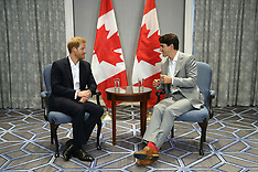 Prince Harry meets PM Trudeau - 23 Sep 2017