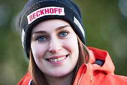 03.11.2016, Olympia Eisbahn Igls, Innsbruck, AUT, OeRV, Medientermin, im Bild Katrin Heinzelmaier (AUT) // Katrin Heinzelmaier (AUT) during a Media Event of the Austrian Luge Federation as Preview for the FIL Luge World Championships 2017 at the Olympia Eisbahn Igls in Innsbruck, Austria on 2016/11/03. EXPA Pictures © 2016, PhotoCredit: EXPA/ Johann Groder