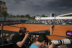 May 28, 2019 - Paris, France - PARIS, FRANCE - MAY 28 : illustration rain - Monica Puig (Pur) v Kirsten Flipkens (Bel) during the first round of the French Open of Roland-Garros , on May 28, 2019 in Paris, France. (Credit Image: © Panoramic via ZUMA Press)