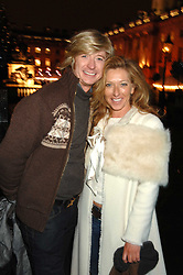 Hairdresser NICKY CLARKE and KELLY HOPPEN at a Winter Party to celebrate the opening of the Ice Rink at Somerset House, London in association with jewellers Tiffany on 20th November 2007.<br />
