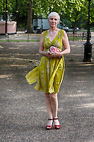 Annie Lennox Pictured at Nelson Mandelas Birthday Party in Hyde Park London