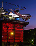 View on the museum for german technology in the evening time.