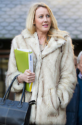 © Licensed to London News Pictures. 21/12/2012. London, UK. The mother of Neon Roberts, Sally Roberts, is seen outside the Royal Courts of Justice today 21/12/12) during a break in proceedings on the final day of her appeal. Photo credit: Matt Cetti-Roberts/LNP