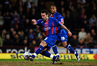 Photo: Daniel Hambury.<br />Crystal Palace v Watford. Coca Cola Championship. 31/03/2006.<br />Palace's Dougie Freedman scores from the rebound after his penalty was saved