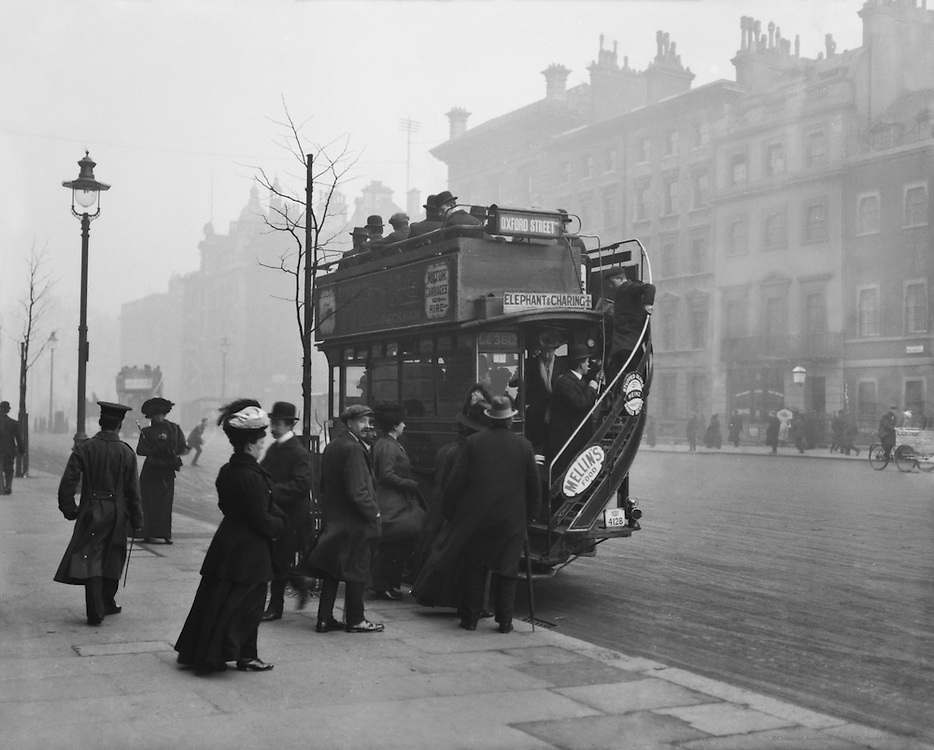 Old Bus, London, 1916