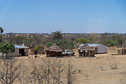 Traditional village in rural Zimbabwe near Lake Kariba, Zimbabwe