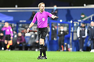 Referee Gavin Ward during the EFL Sky Bet Championship match between Queens Park Rangers and Brentford at the Kiyan Prince Foundation Stadium, London, England on 17 February 2021.