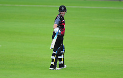 Jim Allenby of Somerset looks back after being dismissed.  - Mandatory by-line: Alex Davidson/JMP - 02/08/2016 - CRICKET - The Ageas Bowl - Southampton, United Kingdom - Hampshire v Somerset - Royal London One Day
