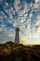 A beautiful sunset sky at the Louisbourg Lighthouse on Cape Breton Island