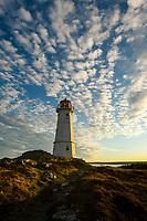 A beautiful sunset sky at the Louisbourg Lighthouse on Cape Breton Island