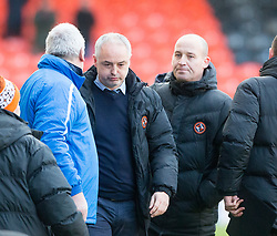 Dundee United's manager Ray McKinnon at the end. Dundee United 1 v 1 Morton, Scottish Championship game played 25/2/2017 at Tannadice Park.