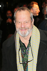 Terry Gilliam, Barry Humphries Eat, Pray, Laugh - press night, London Palladium, London UK, 15 November 2013, Photo by Richard Goldschmidt © Licensed to London News Pictures. Photo credit : Richard Goldschmidt/Piqtured/LNP
