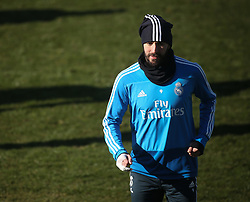 February 8, 2019 - Madrid, Spain - Real Madrid's French forward Karim Benzema attends a training session at the club's training ground in the outskirts of Madrid on February 8, 2019 Before The Liga match against Atletico Madrid. (Credit Image: © Raddad Jebarah/NurPhoto via ZUMA Press)