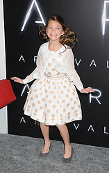 November 6, 2016 - Los Angeles, California, United States - November 6th 2016 - Los Angeles California USA -  Actress   ABIGAIL PNIOWSKY at the 2016 ''Arrivals'' Premiere  held at the Regency Village Theater, Westwood  Los Angeles, CA (Credit Image: © Paul Fenton via ZUMA Wire)