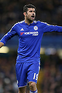Diego Costa of Chelsea shouting. Barclays Premier league match, Chelsea v AFC Bournemouth at Stamford Bridge in London on Saturday 5th December 2015.<br /> pic by John Patrick Fletcher, Andrew Orchard sports photography.
