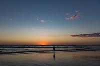 sunset at playa santa del mar beach Aposentillo El Viejo Chinandega  in Nicaragua