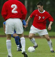 Fotball. Privatlandskamp U21. Sandefjord. 20.05.2002.<br /> Norge v Nederland 1-1.<br /> Andre Hanssen, Norge og Bodø-Glimt.<br /> Foto: Morten Olsen, Digitalsport