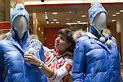 Moscow, Russia, 24/01/2011..Bosco di Ciliegi sport shop in GUM.