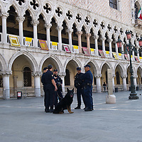 VENICE, ITALY - MAY 07:  An unuasually empty St Mark Square and Palazzo Ducale with heavy security ahead of the visit of the Pope Benedict XVI on May 7, 2011 in Venice, Italy. Pope Benedict XVI will visit Venice on May 7-8, which is 26 years since Pope John Paul II visited (Photo by Marco Secchi/Getty Images)