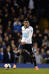 Tottenham's Paulinho  - Photo mandatory by-line: Mitchell Gunn/JMP - Tel: Mobile: 07966 386802 02/03/2014 - SPORT - FOOTBALL - White Hart Lane - London - Tottenham Hotspur v Cardiff City - Premier League