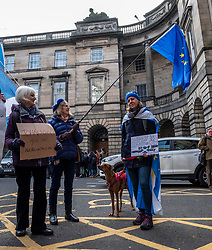 Pictured: Rescue dog Jack waited with baited breath for the news from the court<br /><br />Judges delayed ruling on a legal bid aimed at forcing the Prime Minister to send a letter requesting a Brexit extension if no withdrawal deal is reached by October 19<br /><br />Ger Harley | EEm 21 October 2019