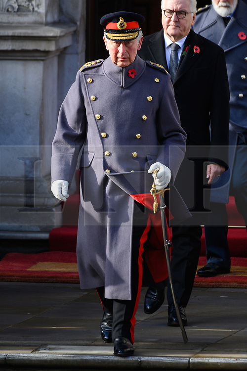 © Licensed to London News Pictures. 11/11/2018. London, UK.  The Prince of Wales attends a Remembrance Day Ceremony at the Cenotaph war memorial in London, United Kingdom, on November 11, 2018.  Thousands of people honour the war dead by gathering at the iconic memorial to lay wreaths and observe two minutes silence and marks the 100th anniversary of Armistice Day. Photo credit: Ray Tang/LNP