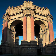 The Palace of Fine Arts Theatre, a remain of the 1915 Panama Pacific Exposition, in the Marina District of San Francisco, California.