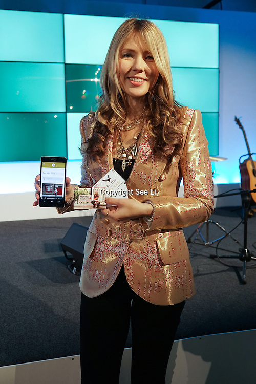 London,England,UK : 20 th June 2016 : Singer Beatie Wolfe with her news innovation at the  London Technology Week 2016 opening press day at The Yard,Worship Street, London. Photo by See Li