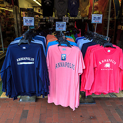 Annapolis, MD, USA - May 20, 2012: Colorful Annapolis Shirsts for sale