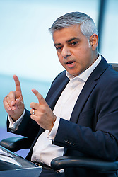 © Licensed to London News Pictures. 25/05/2016. London, UK. Mayor of London SADIQ KHAN holds his first Mayor's Question Time at City Hall in London on Wednesday, 25 May 2016. Photo credit: Tolga Akmen/LNP