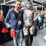 Mouldlife Stand #117 by Artist Vincent De Monfreid demo at IMATS London on 18 May 2019,  London, UK.