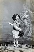 studio portrait of a young child 1920s