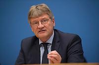 DEU, Deutschland, Germany, Berlin, 25.09.2017: Der AfD-Vorsitzende Jörg Meuthen, Alternative für Deutschland (AfD), in der Bundespressekonferenz zu den Ergebnissen der Bundestagswahlen.