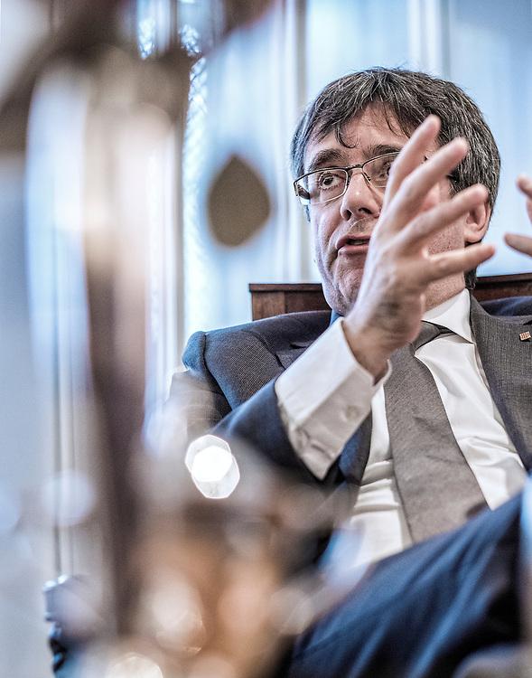 Nederland. Amsterdam, 02-10-2018. Photo: Patrick Post. Portret van de voormalige Catalaanse separatistenleider, Carles Puigdemont