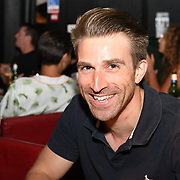 A host celebrities and invite guests attend the Macmillan - charity gala summer party with specail guests perform by Louise Golbey and Alex Anstey at Pizza Express Dean Street on 8 August 2018, London, UK.