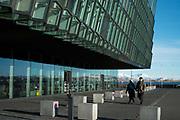 Harpa Reykjavik Concert Hall and Conference Center, designed by Henning Larsen Architects. Reykjavik, Iceland.
