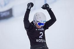 Selina Joerg (GER),celebrates during Final Run at Parallel Giant Slalom at FIS Snowboard World Cup Rogla 2019, on January 19, 2019 at Course Jasa, Rogla, Slovenia. Photo byJurij Vodusek / Sportida